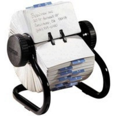 Eldon Rolodex Classic 500 Rotary Open Card File Black El66704