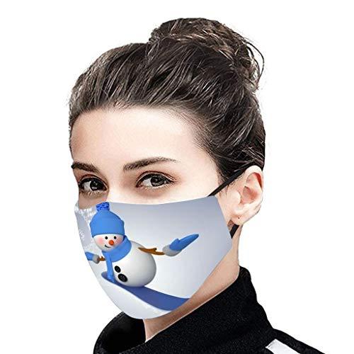 Binggong Weihnachtsmotiv Mundschutz Festlicher Multifunktionstuch Mundbedeckung Waschbar Wiederverwendbar Mund-Nasen Bedeckung Atmungsaktiv Halstuch Schals für Herren Damen