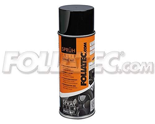 Foliatec 20652 Spraydose Farbe Abziehbar für Viele Untergründe, Schwarz Matt