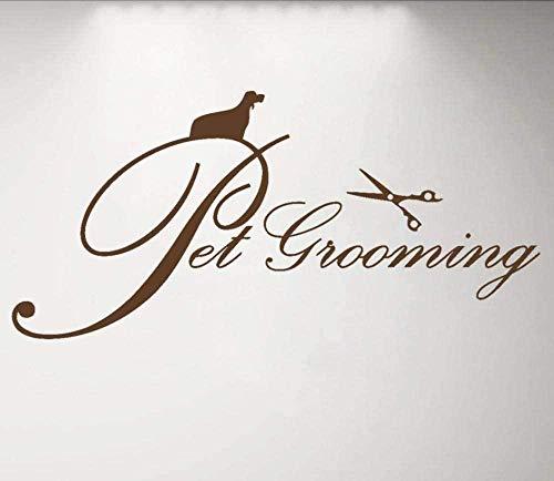 Muurstickers, muurstickers, mooie decoratie voor huisdieren, logo, bord, ramen, huisdierverzorging, tent, huis, kat, hond, waterdicht, 89 x 42 cm, bruin