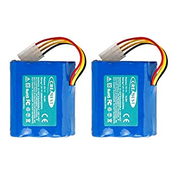 2Packs Creabest Upgraded 7.2V 4500mAh Ni-Mh Battery Compatible with Neato XV-11 XV-12 XV-14 XV-15 XV-21 XV-25 XV Essential XV Signature Pro Robotic Vacuum Cleaners 945-0005 205-0001