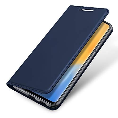 SHIEID Hülle für Vivo X50 Pro/X51 5G Hülle, Handyhülle Galaxy Vivo X50 Pro/X51 5G Tasche, Lederhülle Flip Hülle mit Magnetischem Superdünnem Seidigem Schutzhülle für Vivo X50 Pro/X51 5G, Blau