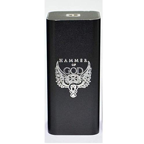Hammer of God V3 Box Mod Electronic Cigarette Mechanical Mod fit 18650 Battery for Mech RDA RDTA RBA Atomizer Vape Vaporizer Kit (Black Silver)
