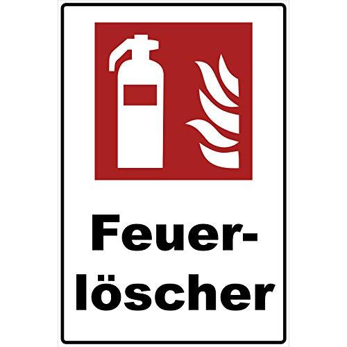 Schild Feuerlöscher Schild Brandschutzzeichen rot 30 x 20 x 0,3 cm - Feuerlöscher Schilder - Hartschaumplatte