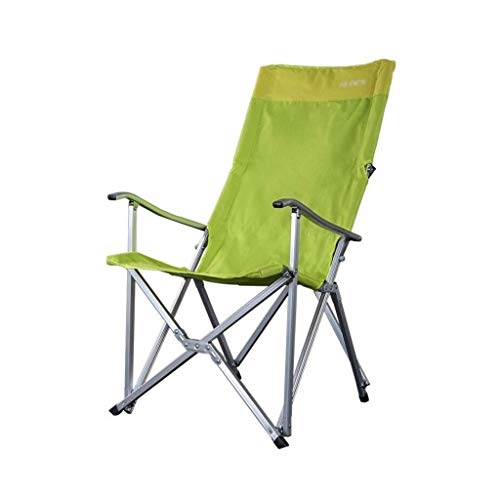 YANGYUAN Camping Chair, Sedia Portatile Pieghevole di Campeggio Esterna Chair Ampio Schienale Sedia Leggera, Molto Adatto for Beach, Zaino e attività all'aperto Verde