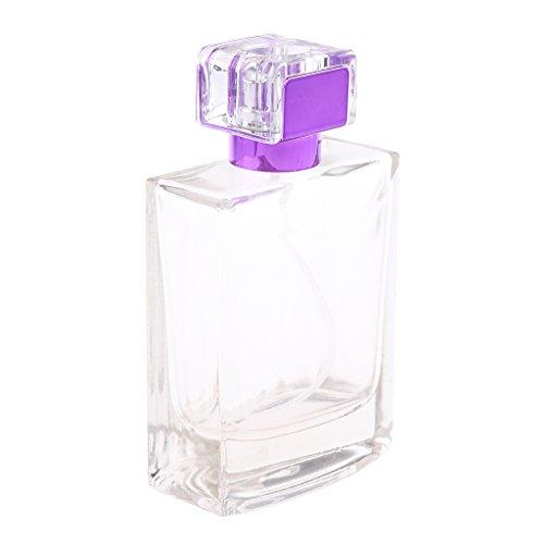 sharprepublic 100ml Bouteilles Pompe Vide Rechargeable Flacon Pulvérisateur Cosmetique - Violet
