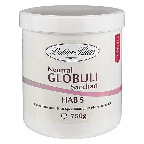 750g Neutral Globuli HAB 5, Doktor-Klaus, reine Saccharose, in weisser Dose