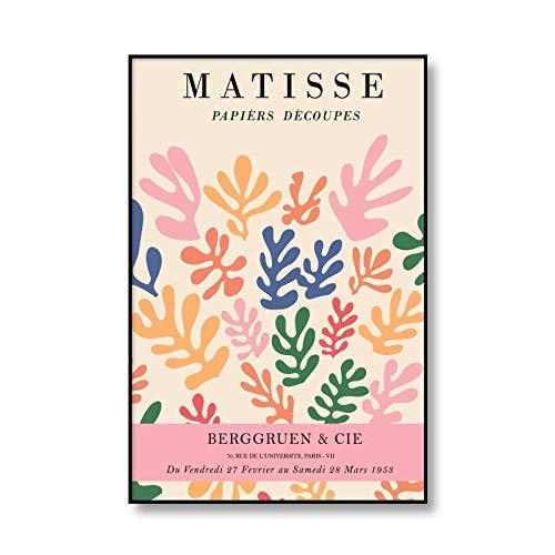 Henry Matisse carteles e impresiones de cuerpo abstracto arte de pared lienzo casa mujer moderna sin marco pintura decorativa en lienzo C 20x30cm