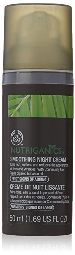 The Body Shop Nutriganics Smoothing Night Cream, 1.69 Fluid Ounce (Packaging May Vary)