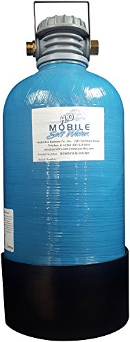 Premier 16,000 Grain Mobile-Soft-Water RV, Portable Softener, with Lead Free Brass Connections, for RV, Car Wash, Boating and Home use. with 4ft Hose, Test Strips and 'Y' Valve