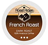 Roast Ridge Single Serve Coffee Pods Compatible with Keurig K-Cup Coffee Brewers, French Roast 100 Ct.