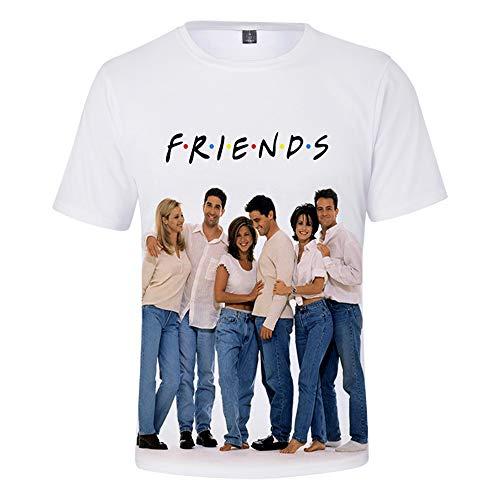 Kurzarm Freunde T Shirt TV Show Cast Aufkleber Tops Tees Frauen Männer Sommer niedlich lustige Grafik Vintage