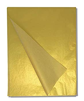 Gold Tissue Paper - 50 Sheets 20  x 26  Metallic Gold Wrapping Tissue for DIY Crafts - For Bags Boxes Wine and Champagne