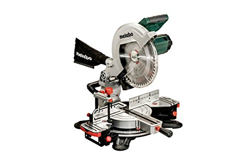 Metabo 619003000 619003000-Ingletadora KS 305 M-2.00 Kw-305 mm (láser Integrado), 2000 W, 240 V, Verde - Negra, 0