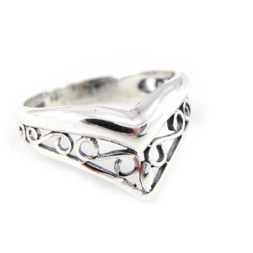 Les Trésors De Lily [D7075] - Anello argento 'Athena Filigrane' .
