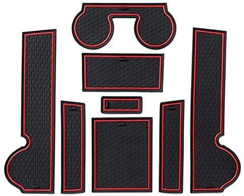 Auto Tappetini Antiscivolo per Mitsubishi Lancer Ralliart Evo X Galant Fortis Ex 2008-2016, Interna Porta Braccio Box Tappetini Antiscivolo Dccessori.