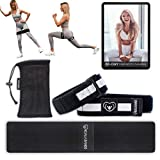 KOALA BANDS | Blood Flow Restriction Bands and Hip Training Booty Fabric Resistance Glute Band for Women | Bundle Pack (2 Occlusion Leg Bands, 1 Hip Circle Band,1 Carry Bag, Training Program)