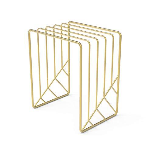 U Brands Classificador de letras de metal, acessório de mesa, coleção Vena, ouro (3276U03-12)