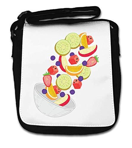 Fruit Salade Bowl Grafische Aardbei Oranje Kiwi Kleine Schoudertas