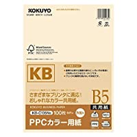 コクヨ PPCカラー用紙(共用紙)FSC認証B5 100枚 アイボリー 3個セット