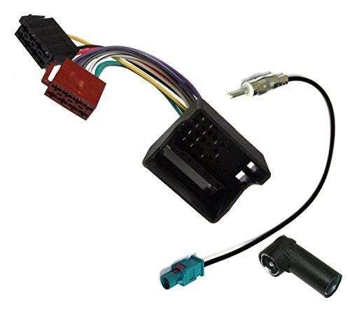 AERZETIX: Câble Adaptateur Faisceau autoradio antenne pour Auto Voiture