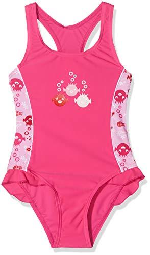 Beco Mädchen UV-Badeanzug Sealife Schwimmanzug, Rosa (Pink/04), 110