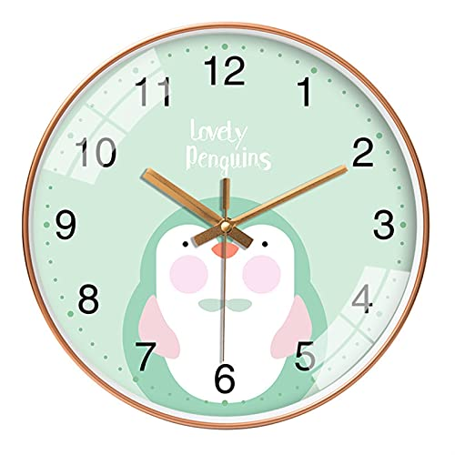 XIALIMY Joyería Lindo Conejito Rosa Oso Creativo Dibujos Animados Mute Pared Reloj Simple Moderno Personalidad Reloj decoración casera Sala de Estar Reloj (Color : 17, Sheet Size : 12 Inch 30x30x4cm)