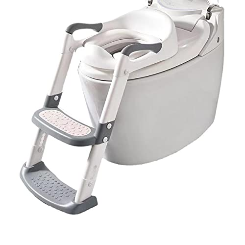 Potty Training Seat with Ladder, Step Stool Toilet Seat with Handles Potty Training Toilet for Kids Toddlers Boys Girls Safe Potty Seat Potty Chair