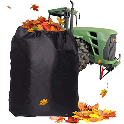 TONIAN Leaf Bag for Ride-On Lawnmowers, Durable 54 Cubic - 120-inch Opening Garden Lawn Mower Leaf Bags for Garden Leaf Fast Pick Up, Heavy Duty Leaf Bag for Riding Lawn Mower