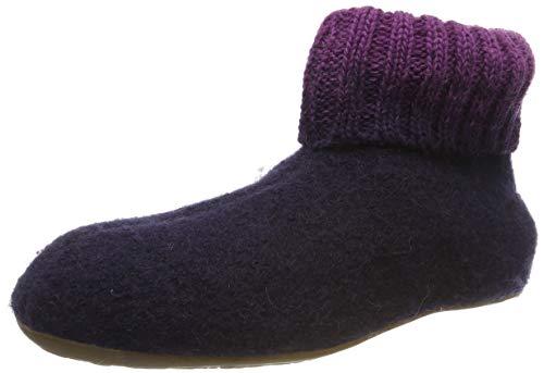 Haflinger Everest Iris, Hausschuhe, Unisex-Erwachsene, reine Wolle, Violett (Lavendel 90), 36 EU