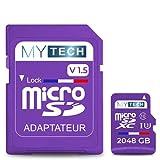 MyTech - Scheda di memoria Micro SD 2048 GB (2 TB) V1.5, capacità reale +...