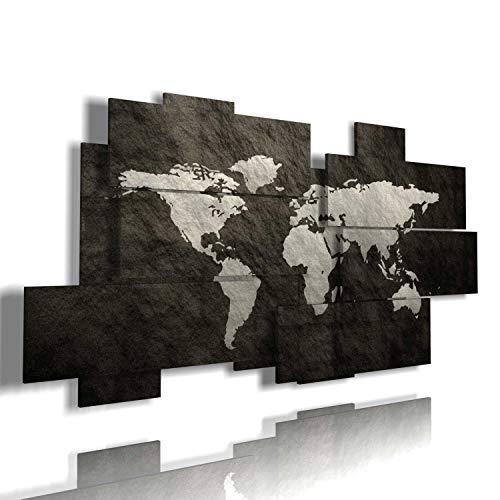 duudaart Quadro Poster Mondo Moderno 3D multilivello Quadri Camera da Letto