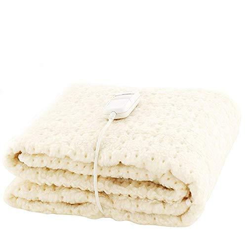 Monogram Heated Bedding, White, Single