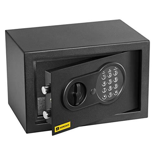 HomeSafe HV20E Caja fuerte Electrónica 20x31x20cm (HxWxD), Negro Satén de Carbón