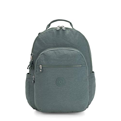 Kipling Seoul - Zaino per laptop da donna, misura XL, 17', Aloe leggera. (verde) - KI3864