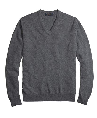 Brooks Brothers Men's 117093 Pure Cashmere V-Neck Sweater (XL)