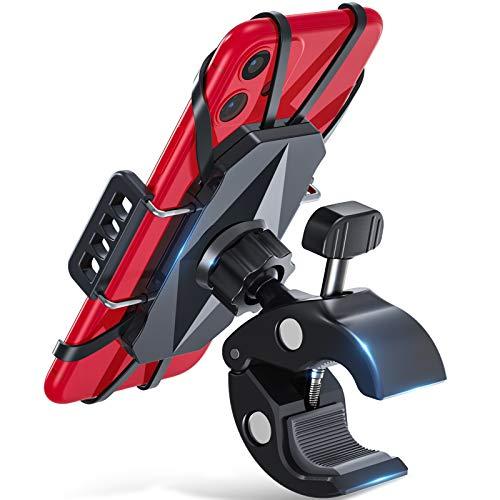 andobil Fahrrad Handyhalterung Motorrad [Anti-Shake] 360° Drehbar Handy Fahrradhalterung Face ID/Touch ID Kompatibel Handyhalter Fahrrad Zubehör für iPhone 12/11/11 Pro/ Samsung S20/ S10/ Huawei usw.