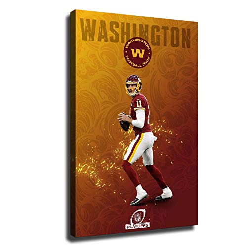 Washington Football Team American Football Poster Painting Canvas Prints Home Room Wall Art Decor Living Room Artwork Posters Bedroom Large Wall Art Picture (12x18inch,Canvas Rolls)