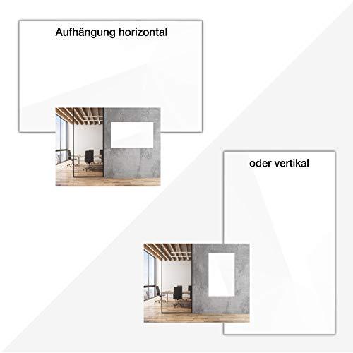 Glasmagnettafel in reinem Weiß   rahmenloses Magnetboard   Whiteboard aus TÜV-zertifiziertem Glas magnetisch & beschreibbar   einfache Montage mit Bohrschablone   7 Größen (120x180 cm) - 4