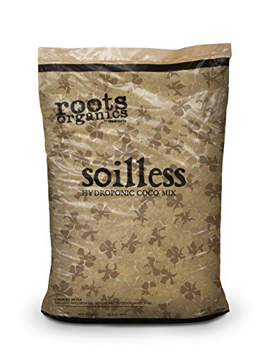 Roots Organics Soilless, Organic Coco Mix for Hydroponics with Beneficial Mycorrhizae, 1.5 Cubic Foot Bag