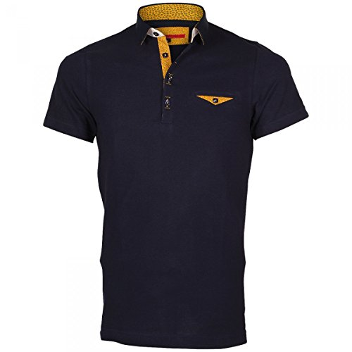 Inconnu Polo Petit col Russel Bleu - Taille 2XL