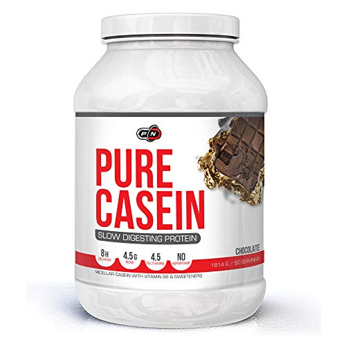 Pure Nutrition Micellar Casein Protein Powder Chocolate|15 30 60 Servings|Night Time Between Meals Slow Release Digesting Protein Shake|8H Delivery 4.5g BCAA 4.5g Glutamin|Muscle Building Supplement