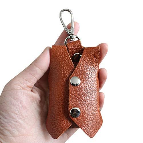 Fxshisnz Car Key Case Genuine Cowhide Leather 3D Waistcoat Clothes Key Wallets Women Key Holder Bag Organizer Men Car Key Housekeeper Case (Color : Brown)