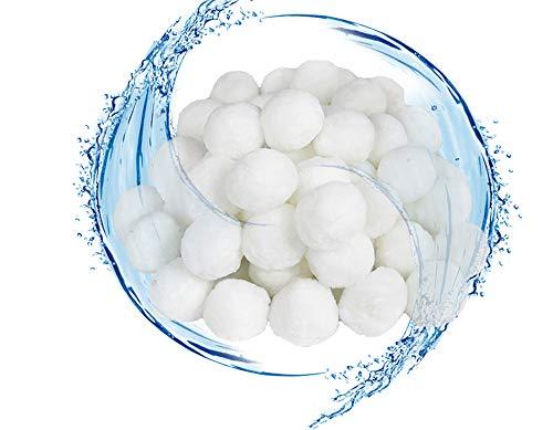 Aufun Filter Balls Filterbälle Filtermaterial mit 700g ersetzen 25kg Filtersand Zubehör für Pool Sandfilter Umweltfreundlicher Poolfilter Filteranlage