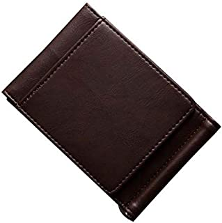 Mens Leather Bag Vintage Men Wallet PU Leather Short Wallets Male Multifunctional Card Holders Driver License Holders Solid Color Coin Pocket Bag (Color : Coffee, Size : S)