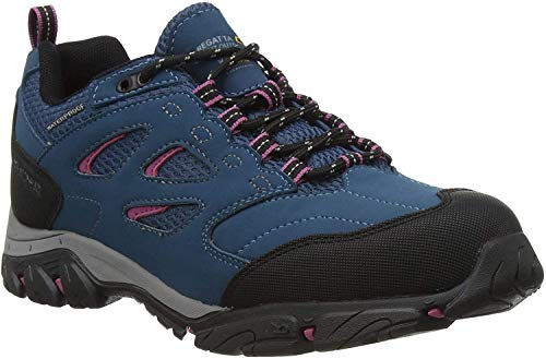 Regatta Damskie buty trekkingowe Holcombe Iep Low wodoodporne oddychające gumowe palce podwójne oczko, Morrocan niebieski czerwony fioletowy - 35 EU