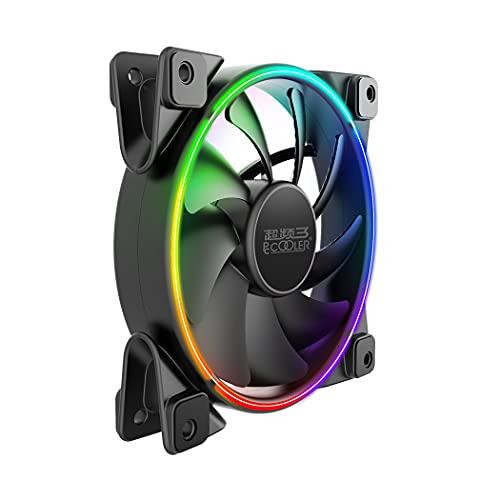PCCOOLER - Ventilador para ordenador (120 mm, 1000-2000 RPM, ± 10%, ledes RGB controlables)