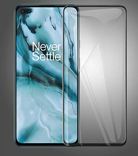 JUMP START Tempered Glass 11D High-Definition Full Coverage Anti-Scratch Case-Friendly Screen Protector for OnePlus Nord (Black)