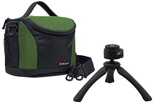Borsa Fotografica Fotocamera Delsey delpix 170Set con treppiedi da viaggio Rollei SY-310fotocamere per Canon EOS 1300d 700d 100d 80d e altri