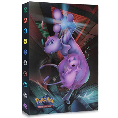 Funmo Sammelkarten Album, Pokemon Karten GX EX Trainer Alben, Pokémon Sammelkarten Zubehör, Pokemon Album für Sammel Karten GX EX Pokemonkarten Heft Pokemon-Karten (32 Seiten)